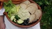 Bread and veggies