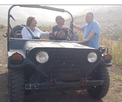 Efraim Landa in Jeep