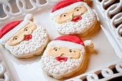 Santa Claus cookie facial