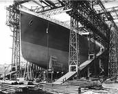 bouw van de titanic