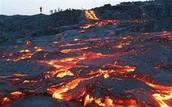 Dried lava