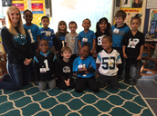 Ms. Diorio's class showing Panther pride.