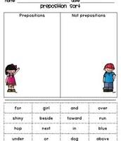 Prepositions Sort
