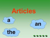 What are the articles in the english language?