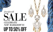 Who Doesn't love a sale!  To coin a phrase when they're gone they're gone!