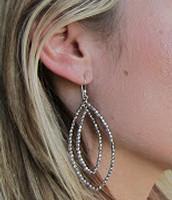 SOLD Bardot Hoop Earrings Silver - Sale Price $7, Retail $24