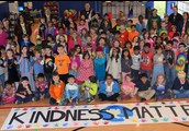 Whole school Kindness Matters wrap up photo.
