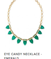 Green Eye Candy Necklace  Reg $49 ~ Sale $25