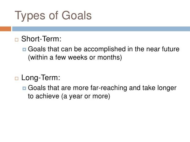 examples of short term professional goals