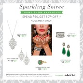 Spend $50 get 50% off these stunning pieces!