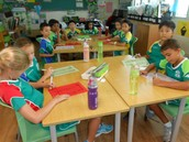 3CTh completing their latest Math Award challenge