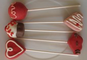 Cake Pops decorados con tema de San Valentín