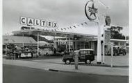 A 1950's gas station.