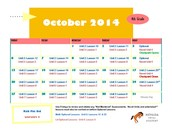 October 2014 Class Connect Lesson Calendar