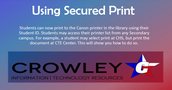 Did you know students can remotely print to the Libray???