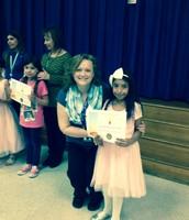 Savanna Renteria, 2nd grade, and Ms. Harrington