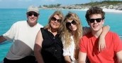 Taylor's family at the beach.