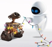 WALL-E and Eve.