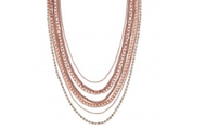 Ginger Layering Necklace, Rose Gold