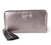 Leather Metallic Wallet