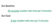 Student Ratio Goal
