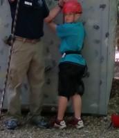 Bryson is ready to climb!