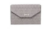 City Slim Clutch in Slate Grey Geo Metalic