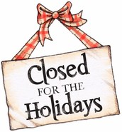 STUDIO WILL BE CLOSED FOR CHRISTMAS BREAK
