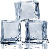 Chilly ice cubes