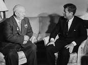 Kennedy and Khrushchev.
