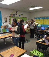 Fourth grade collaborates to identify strategies to promote listening and speaking AKS!