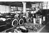 The Ford Motor Company introduduces frist moving assembly