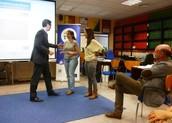 La entrega del premio en Europe Direct.