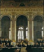 The Treaty was signed here, in the Hall of Mirrors.