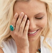 Turquoise Odyssey Ring $20 (retail $59)
