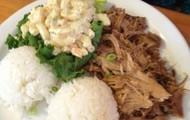 Kalua Pork Plate with Hawaiian Style Mac Salad