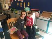 Erika (guest reader) & Lukas