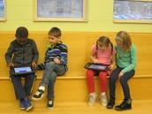 1st graders explore coding.