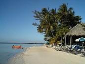 La playa de Boca Chica, cerca de Santo Domingo