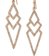 Pave Spear Earrings- Rose Gold
