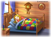 Goldilocks likes to sleep in baby bears bed