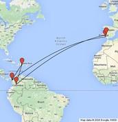 Vasco Nunez De Balboa's Route
