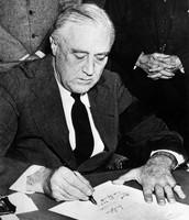 FDR Declaring War