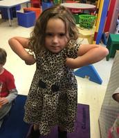 Ella is getting muscles!