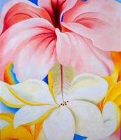 O'Keeffe's Hibiscus with Plumeria Painting
