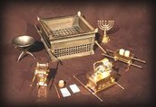 The items placed in the tabernacle