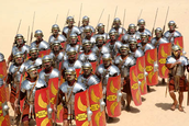 Roman soldier's training