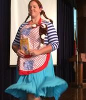 Ms. Hertler, Guidance Counselor, as Pippi Longstocking.