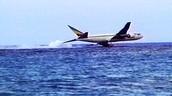 Plane in the ocean