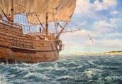 How did the Puritans travel to America?